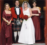 penpal marriage - megan and david married in scotland